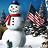 Free American Snowman ScreenSaver