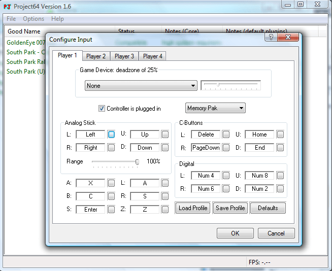 Controller configuration