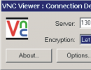 RealVNC window access to the remote computer