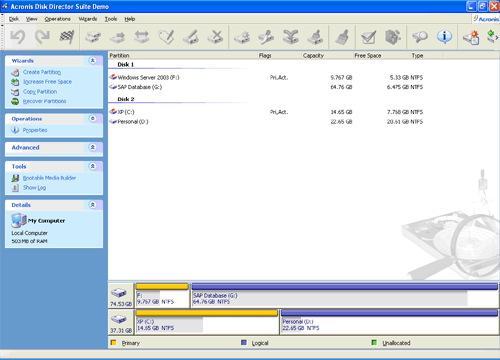 Create Partition Wizard.