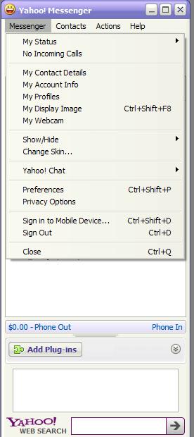 Messenger options