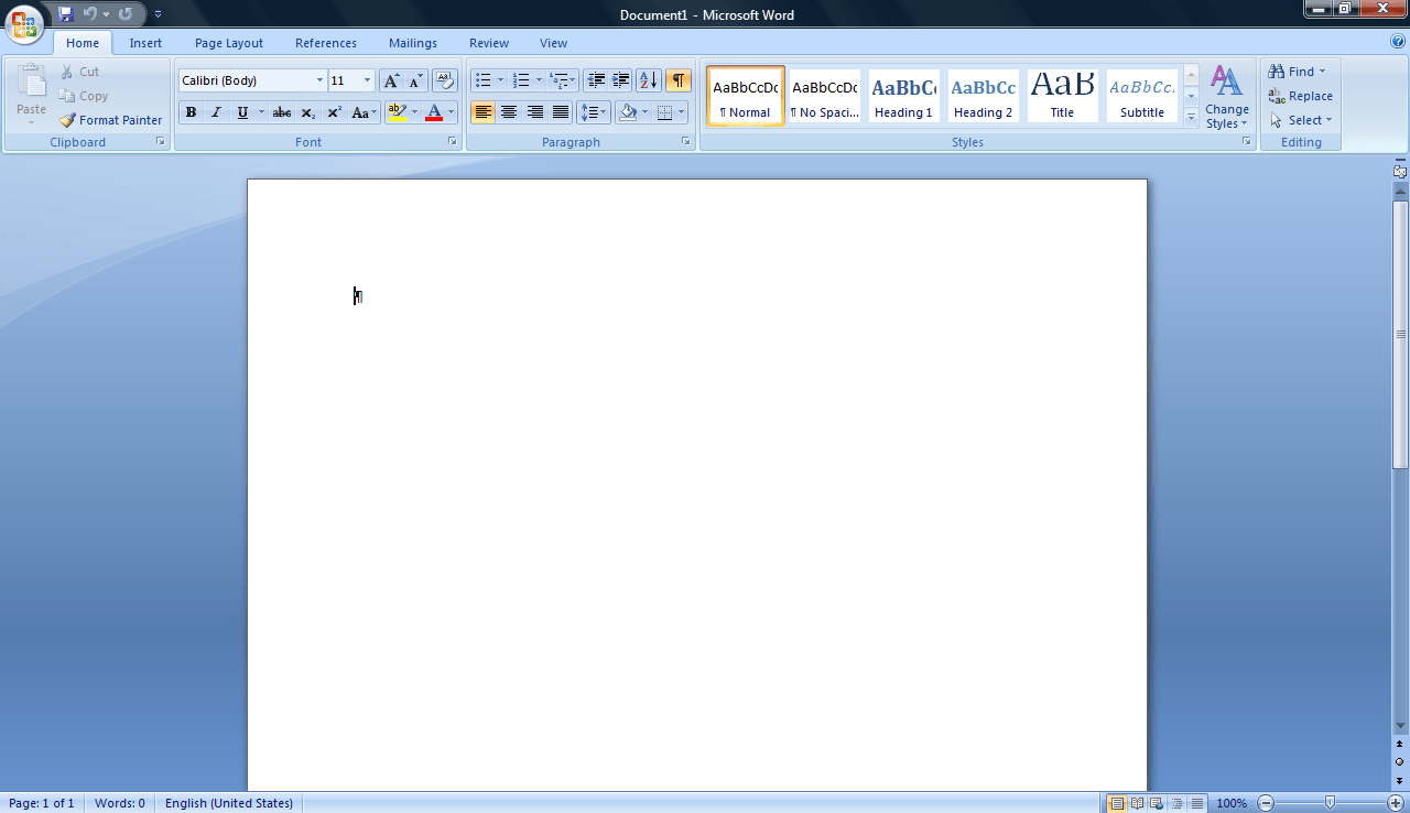 Word general view