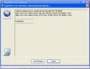 Downloading virus database update