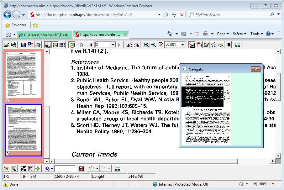 Thumbnail View and Navigator