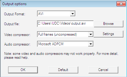 Output options