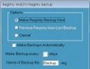 Registry Backup Window