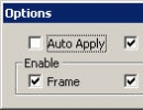 Options window