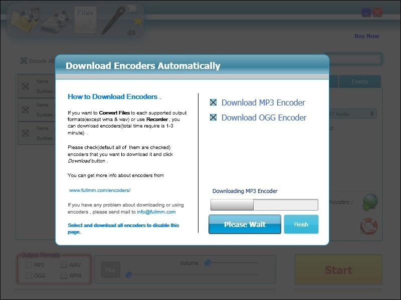 Downloading Encoders