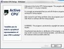 Active CPU setup