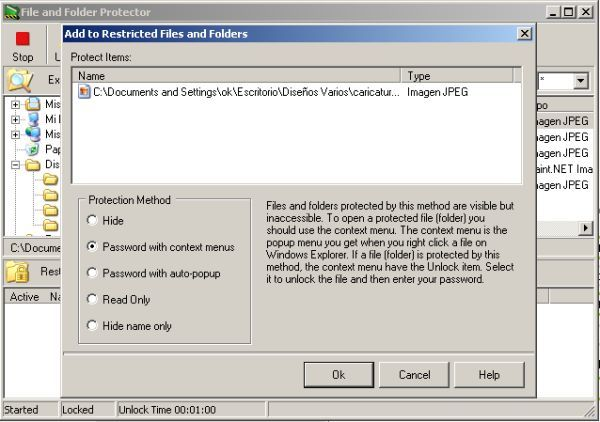 Protecting a file