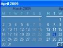 3 Month Calendar Window