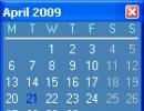 Calendar Window