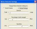 Motion Detection Settings