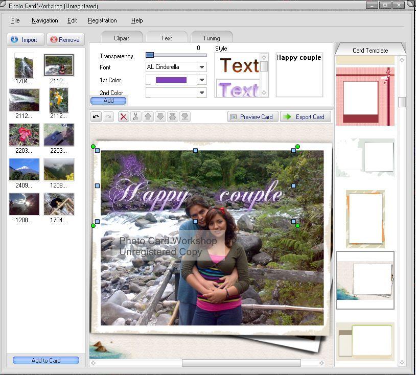 Adding text effect