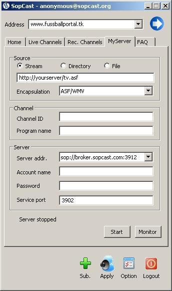 Server broadcast