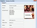 DVD properties window