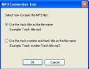 Select name of MP3 files