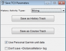 Exporting to TCX