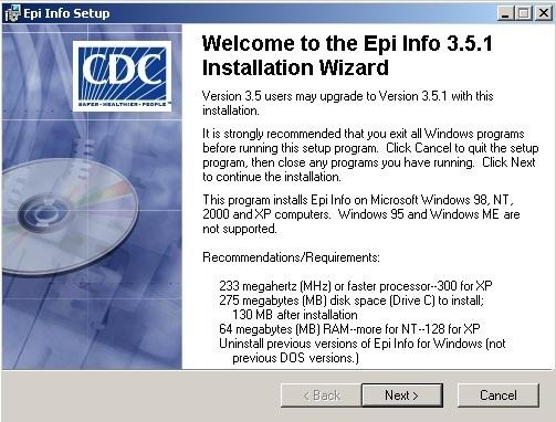 Installation Screen