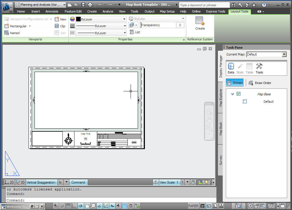 Planning and analysis workspace