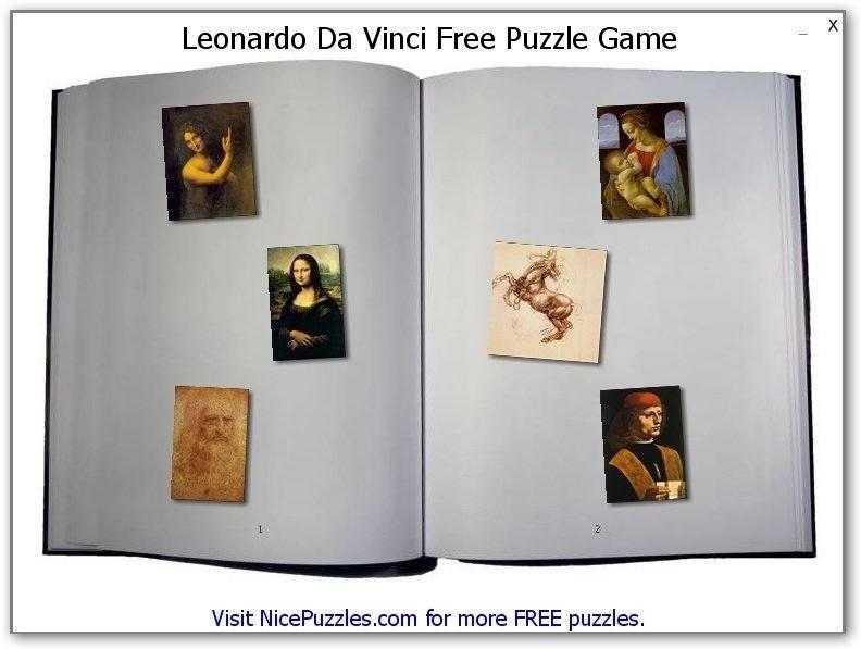 Da Vinci Puzzle-Startup screen