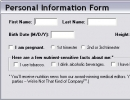 New user personal information