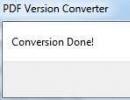 Conversion done