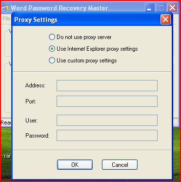 proxy settings