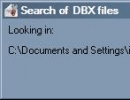 Search for dbx files automatically