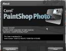 About window - PaintShop Photo