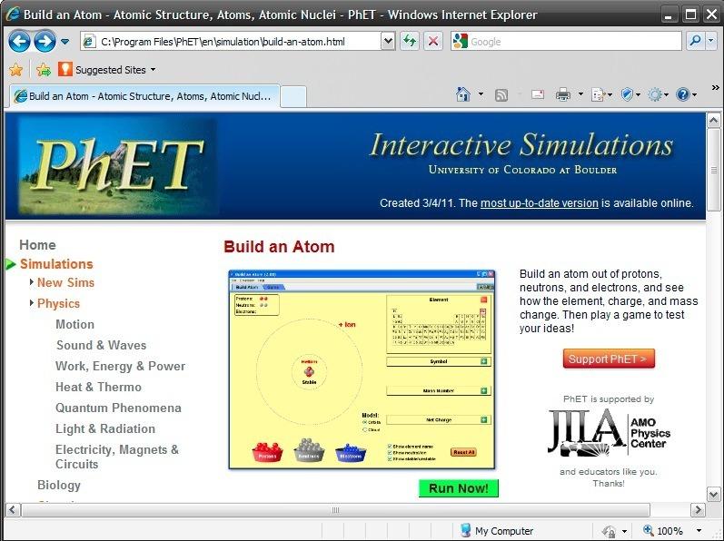 Simulation page