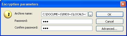 Encryption parameters