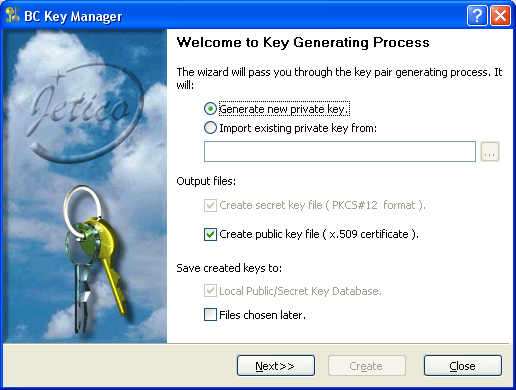 Public Key Generating Process