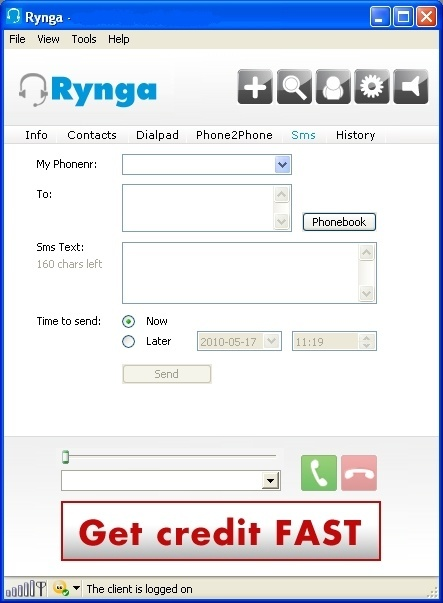 Send SMS from Rynga