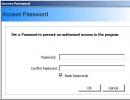 Setting Access Password