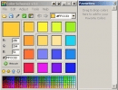 Drag and drop your favorite colors from the main interface to the favorite color library.