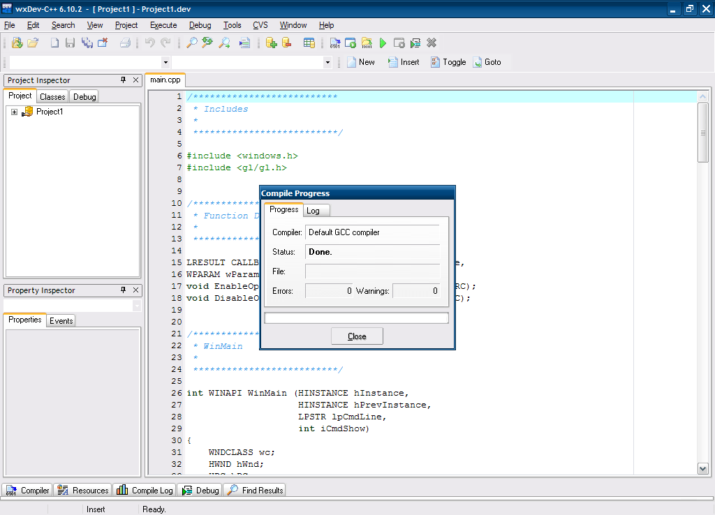 Editing And Compiling Interface