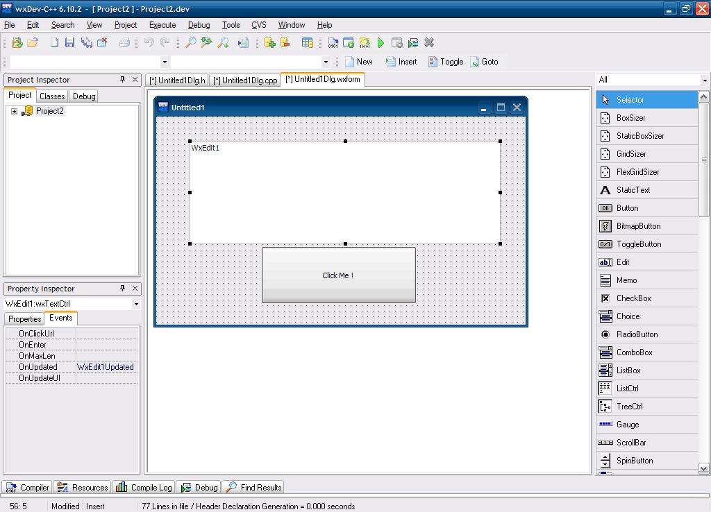 Visual Form Designer (wxWidgets)