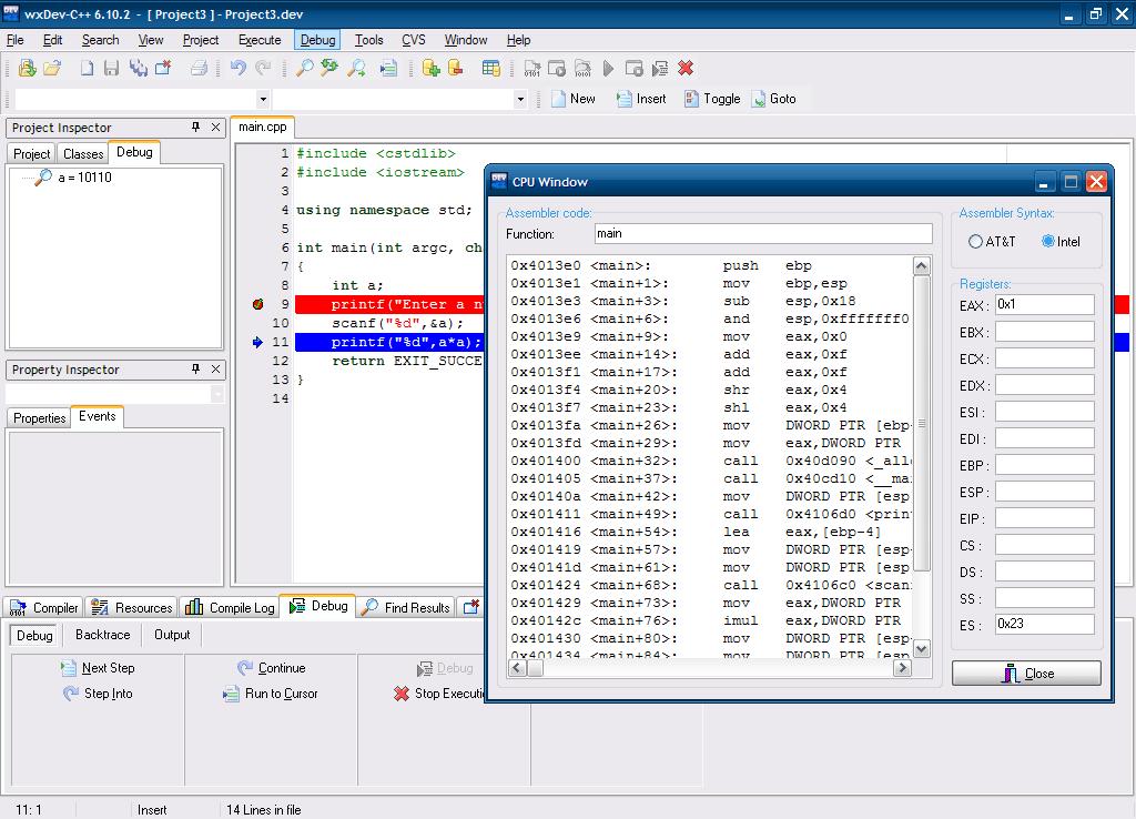 Interactive Debugging
