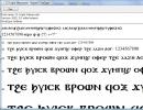 A sample font.