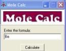 Calculating molecular weight