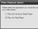 Video playback option