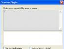 Generate Glyphs Window