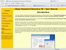 Main help page
