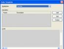 Code Template Window