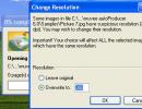 change resolution