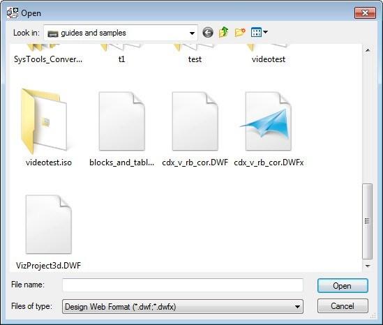 Selecting Input Files