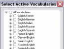Select active vocabulary