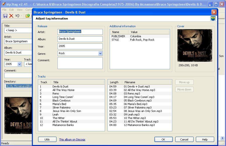 Tag info retrieval from discogs