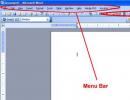 Word Processor Screen